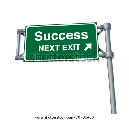 success win Freeway Exit Sign highway street symbol green signage road symbol,isolated