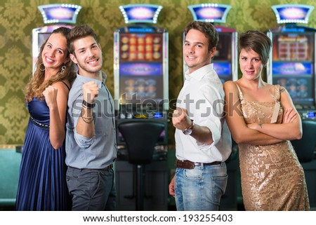Successful Friends at Casino