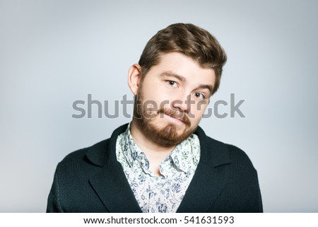 successful young businessman doubt, the choice of something stylish , close-up manager