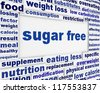Sugar free message background design. Healthy food poster concept - stock vector