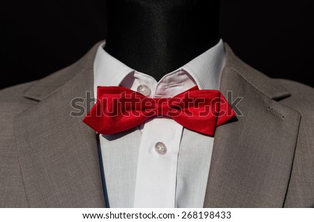 suit with bow tie