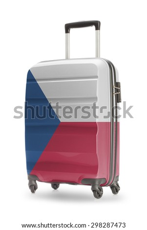 Suitcase painted into national flag - Czech Republic