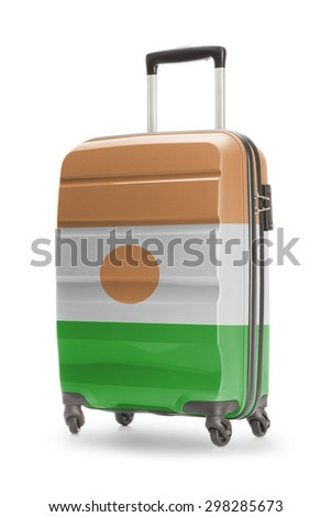 Suitcase painted into national flag - Niger