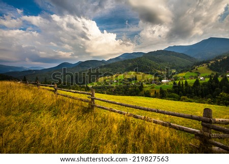 Summer landscape. mountains, Ukraine, landscape. Carpathian, Ukraine