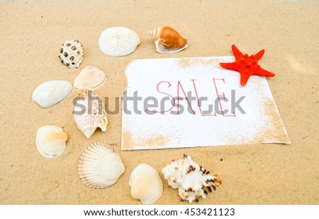 summer sale, the composition of shells