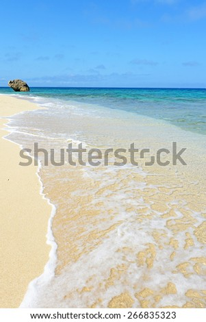 Summer sky and beautiful beach of Okinawa