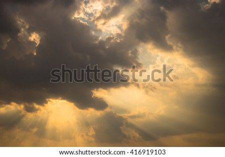 sunbeam and cloud