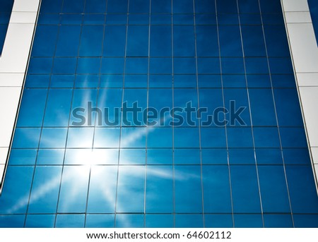 Sunlight reflected on office building