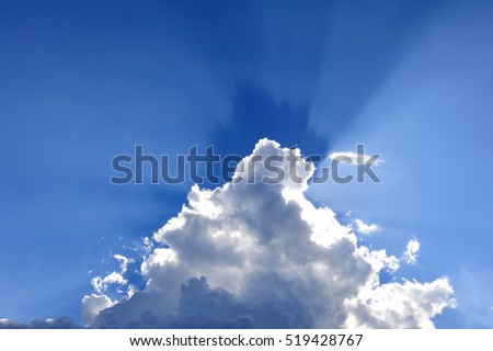 sunlight with cloud