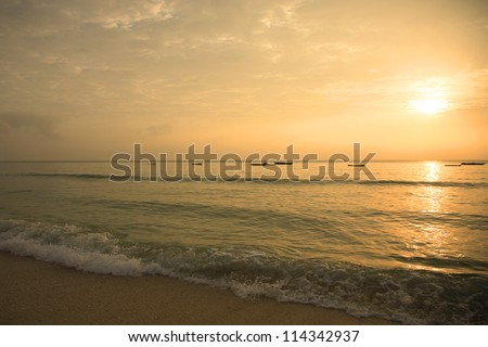 Sunrise over Mombasa beach Kenya Africa