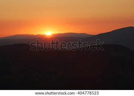 Sunrise over the hills