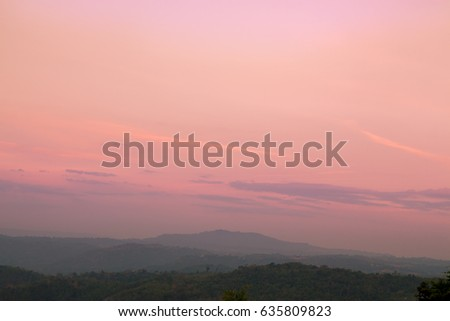 Sunrise sky in the morning colorful nature with copy space