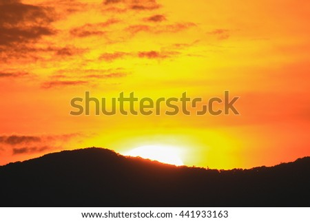 Sunset and mountains backgrounds