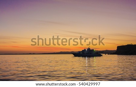 Sunset in the Bay of Sharm El Sheikh