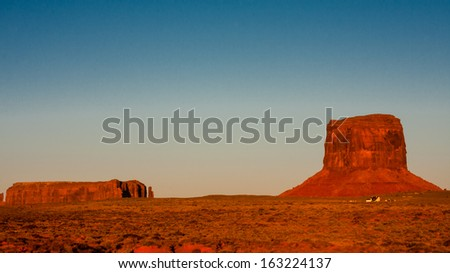 Sunset in the Monument Valley, Arizona / Utah, United States.