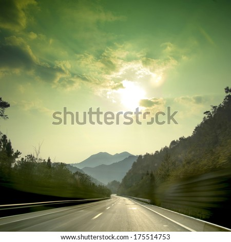 Sunset Mountain Road
