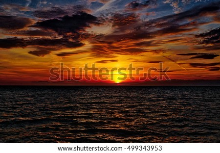 Sunset on the Adriatic Sea