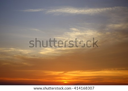 Sunset Sky Background:select focus with shallow depth of field:ideal use for background.