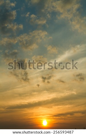 Sunset / sunrise with clouds