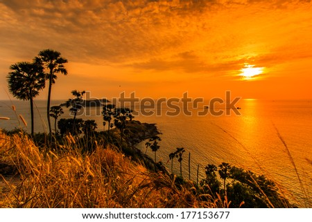 Sunset Laem Prom Thep Cape Stock Photo 294582866 ...