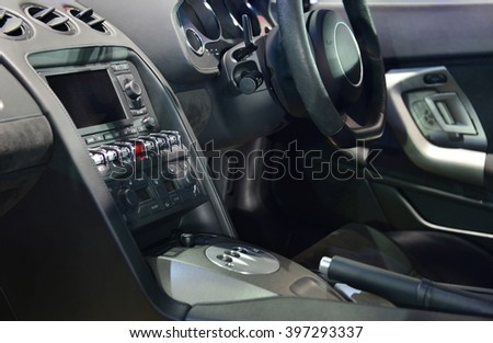 Super car interior