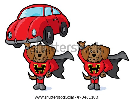 Super dog and car