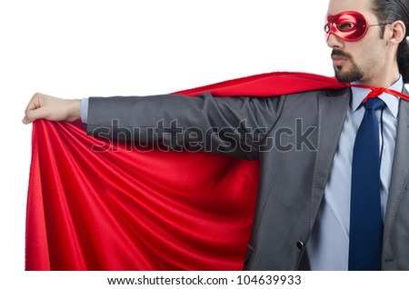 Superman isolated on the white background
