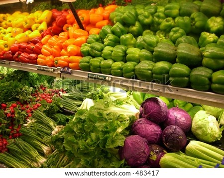Supermarket. Vegetables