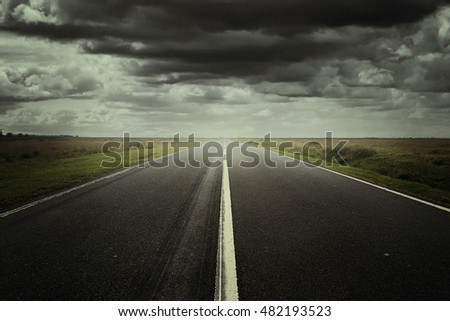 Surreal road background ready for photo manipulation
