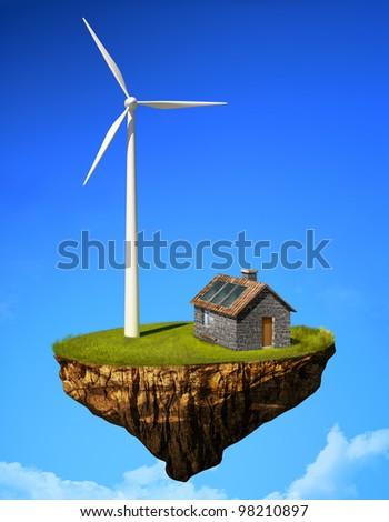 Green energy 3d abstract stock photos illustrations and vector art