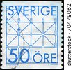 SWEDEN - CIRCA 1985: A stamp printed in Sweden shows board game Fox and Geese, circa 1985 - stock photo