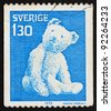 SWEDEN - CIRCA 1978: a stamp printed in the Sweden shows Teddy Bear, Toy, circa 1978 - stock photo