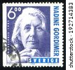 SWEDEN - CIRCA 1998: stamp printed by Sweden, shows Nadine Gordimer, circa 1998 - stock