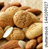 sweet almond cookies biscuits (amaretti) - stock photo