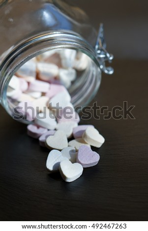 Sweet Candy Hearts