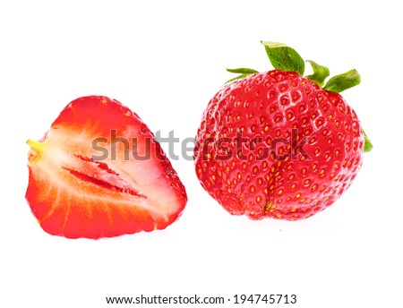Sweet Fresh Strawberry Isolated on White Background