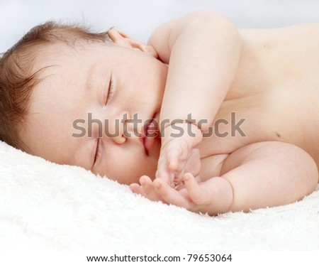 sweetly sleeping baby