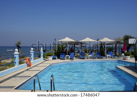St barts resort pool stock photo 44208025 shutterstock for Cheap swimming pools near me