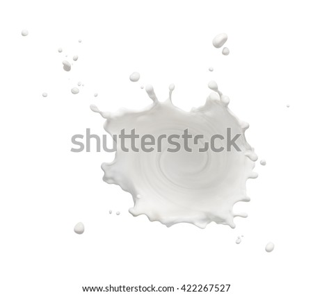 swirling milk splash isolated on white background