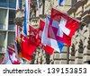 Swiss National Day on August 1 in Zurich, Switzerland. - stock photo