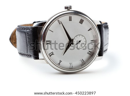 swiss watch isolated on white background