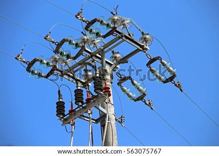 high voltage power line insulators