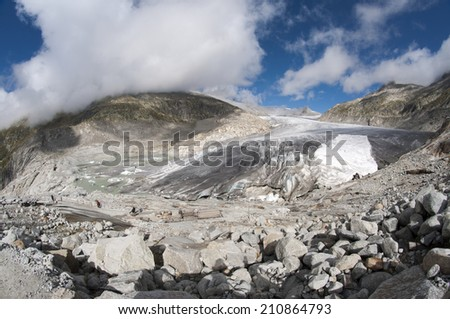 switzerland mountains with glacier