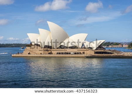 SYDNEY, AUSTRALIA - APRIL 19: View on Sydney Opera house in daylight, HDR photo. April 2016
