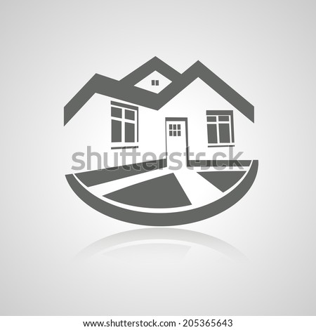 symbol of home, house icon, realty silhouette, real estate