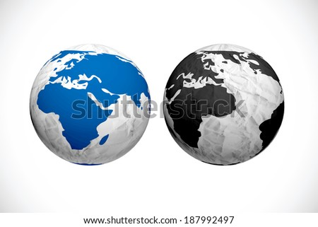 symbols of the planet Abstract 3d sphere illustration for your design