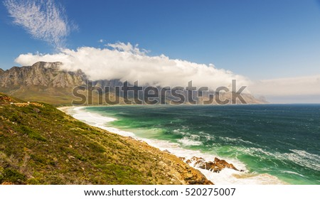 Table Mountain National Park Coastline in South Africa