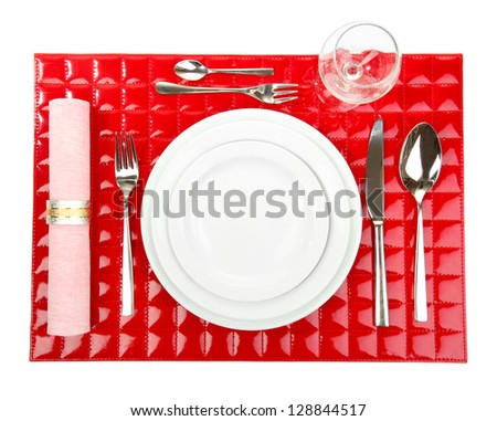 setting place formal placemat place setting stock vector 194612873 shutterstock. Black Bedroom Furniture Sets. Home Design Ideas