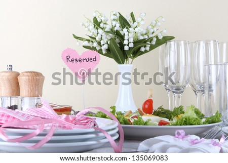 Table Setting Background glamorous table setting ready dinner party stock photo 47652199