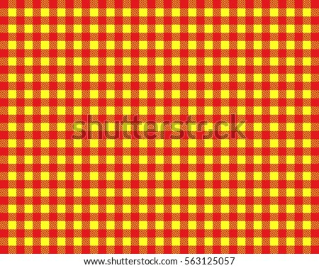 Vintage Checkered Table Cloth Background Colored Stock